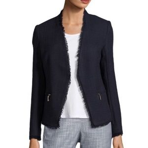 Ivanka Trump navy tweed blazer